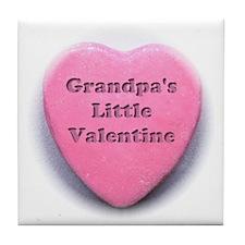 Grandpas valentine girl Tile Coaster