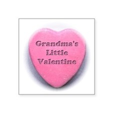 "Grandmas valentine girl Square Sticker 3"" x 3"""