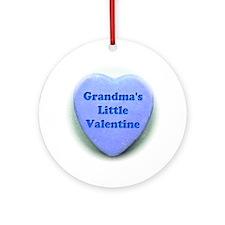 Grandmas valentine Round Ornament
