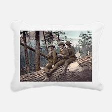 Girl Scout Camp Rectangular Canvas Pillow