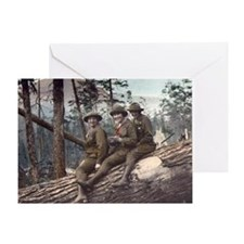 Girl Scout Camp Greeting Card