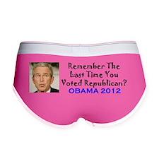Remember - Obama 2012 Sticker Women's Boy Brief