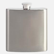 GO HARD WHITE Flask