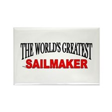 """The World's Greatest Sailmaker"" Rectangle Magnet"