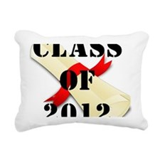 class of 2012 diploma 2 Rectangular Canvas Pillow