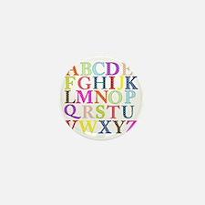 Alphabet Letters Mini Button