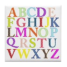 Alphabet Letters Tile Coaster