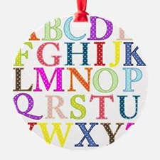Alphabet Letters Ornament