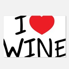 i love wine Postcards (Package of 8)