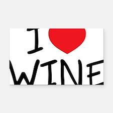 i love wine Rectangle Car Magnet