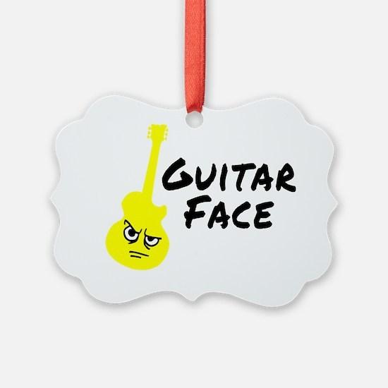 Guitar-Face-Black Ornament