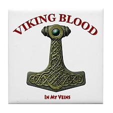 Thors Hammer V-VB Red-B Tile Coaster