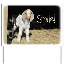 Baby goat Smile! Yard Sign