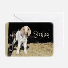Baby goat Smile! Greeting Card