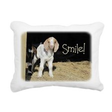 Baby goat Smile! Rectangular Canvas Pillow