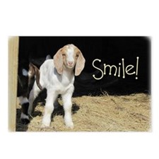 Baby goat Smile! Postcards (Package of 8)