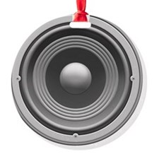 speaker-1-LTT Round Ornament