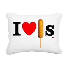 i love corndogs Rectangular Canvas Pillow