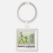 Parental Alienation T-shirt Square Keychain