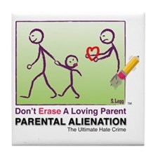 Parental Alienation T-shirt Tile Coaster