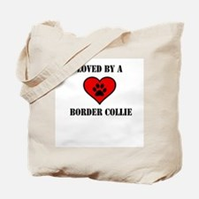 Loved By A Border Collie Tote Bag