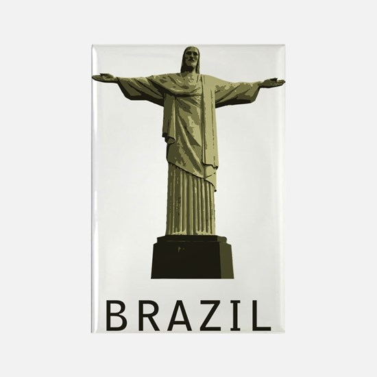 Brazil1 Rectangle Magnet