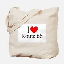 """I Love Route 66"" Tote Bag"
