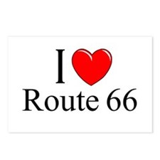 """""""I Love Route 66"""" Postcards (Package of 8)"""