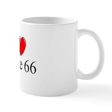 """I Love Route 66"" Mug"