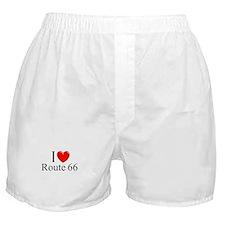 """I Love Route 66"" Boxer Shorts"