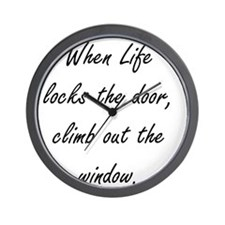 climb out the window Wall Clock