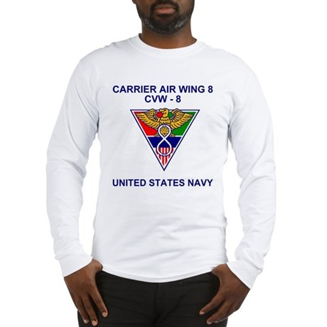 Carrier Air Wing 8<BR>Long Sleeve Tee Shirt