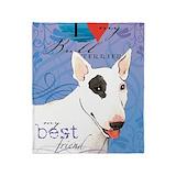 English bull terrier Blankets