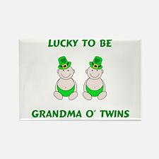 Grandma O' Twins Rectangle Magnet