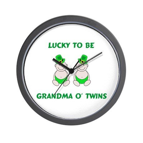 Grandma O' Twins Wall Clock