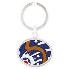 5th_usaaf - cropped Oval Keychain