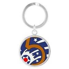 5th_usaaf - cropped-10 Round Keychain