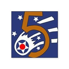 "5th_usaaf - cropped-10 Square Sticker 3"" x 3"""
