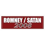 Romney / Satan 2008 Bumper Sticker