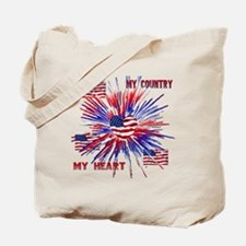 My_Country_My_Heart Tote Bag