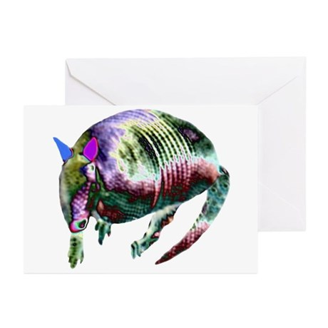 NEON ARMADILLO Greeting Cards (Pk of 10)