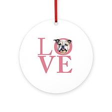 love2 Round Ornament