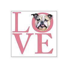 """love2 Square Sticker 3"""" x 3"""""""