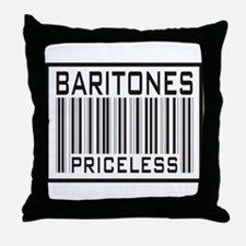 Baritones Priceless Barcode Throw Pillow