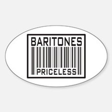 Baritones Priceless Barcode Oval Decal