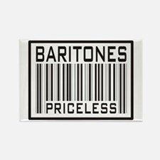 Baritones Priceless Barcode Rectangle Magnet