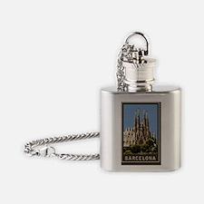 Sagrada Familia1Postcard1 Flask Necklace