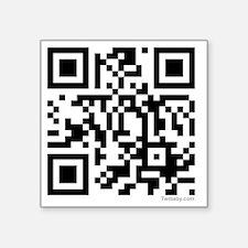 "team edward qr code t-shirt Square Sticker 3"" x 3"""