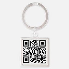 team edward qr code t-shirts by tw Square Keychain