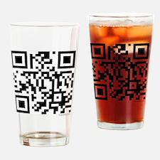 team edward qr code t-shirts by twi Drinking Glass